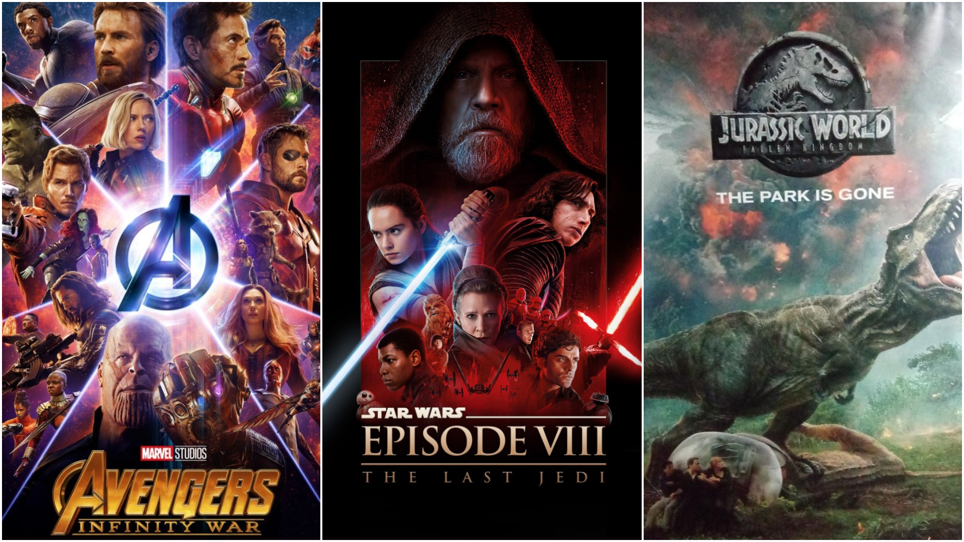 Avengers, Star Wars & Jurassic World
