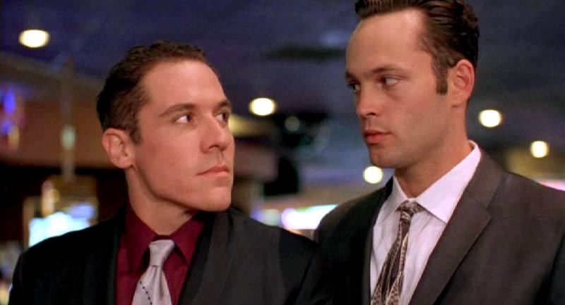 "Favreau and Vince Vaughn in ""Swingers"""