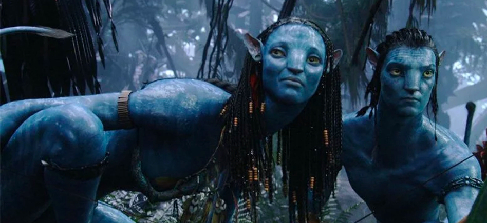 Jake Sully & Neytiri, played by Sam Worthington & Zoe Saldana