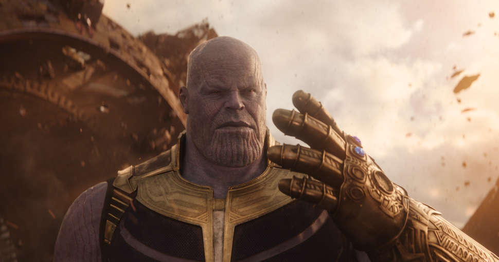 Thanos and the Infinity Gauntlet.
