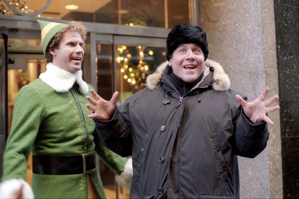 Photo by REX/Shutterstock (436743s) WILL FERRELL AND DIRECTOR JOHN FAVREAU 'ELF' FILM  - 2003