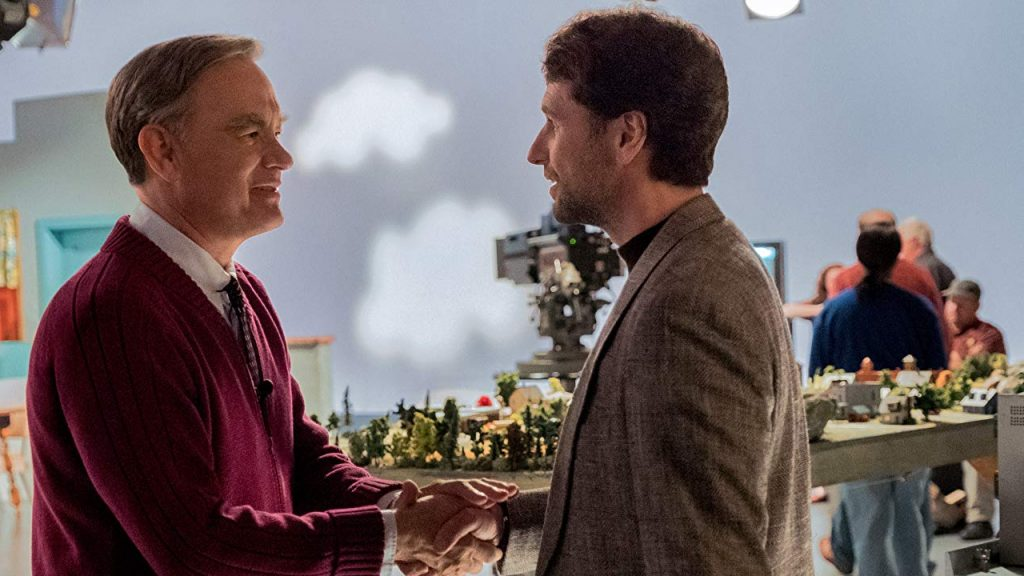 Tom Hanks as Fred Rogers and Matthew Rhys as Lloyd Vogel in A Beautiful Day in the Neighborhood.  (Source: IMDb)