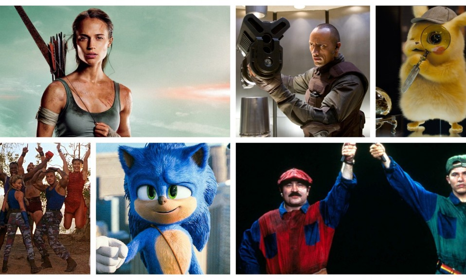 Video Game Movie Collage