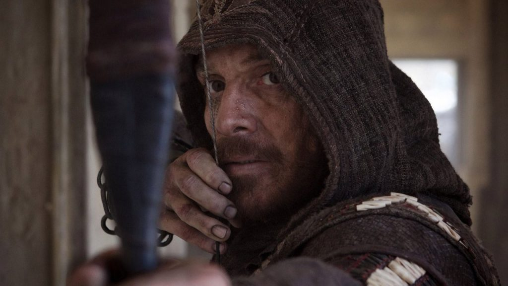 Michael Fassbender plays dual roles in the Assassin's Creed film, playing both an Assassin and his modern-day descendant reliving his memories (credit: 20th Century Fox, 2016)