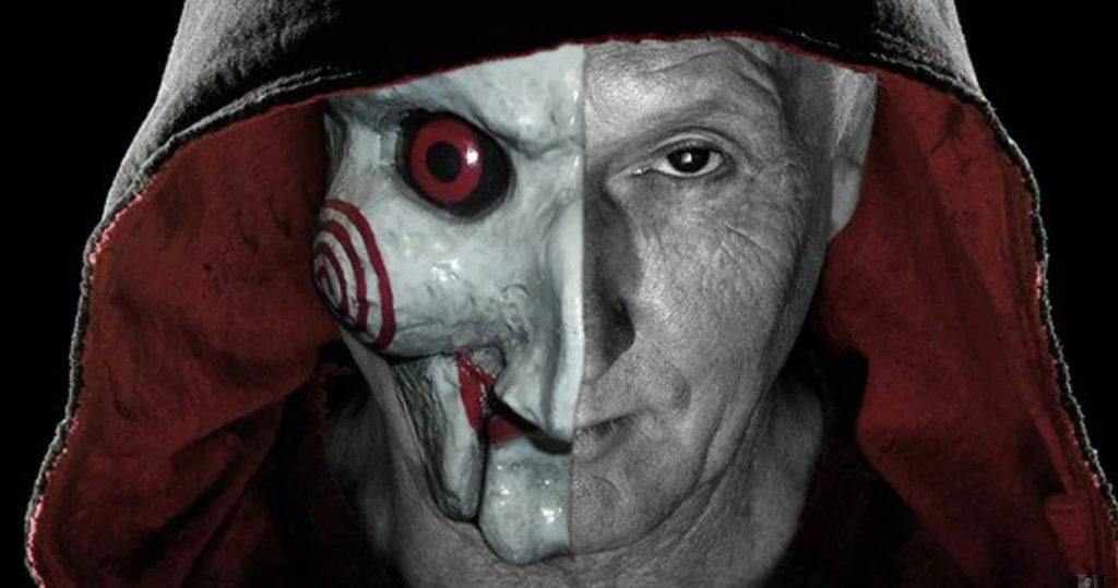 Jigsaw and his iconic billy puppet mask