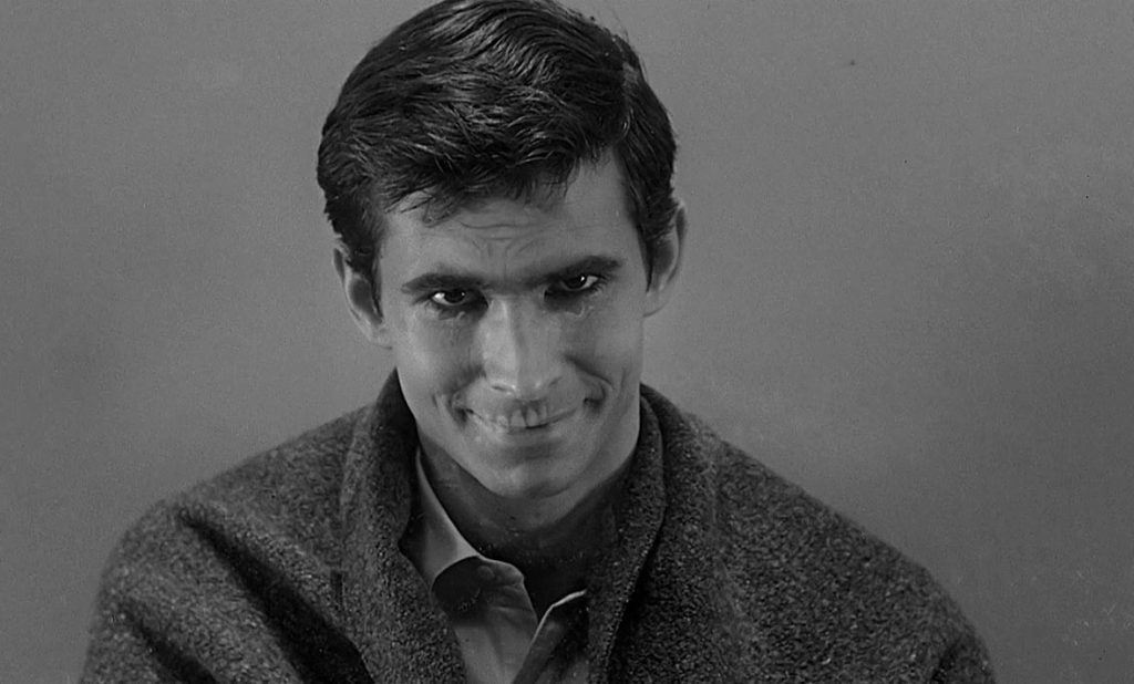 Norman Bates and his mother in Psycho (1960)