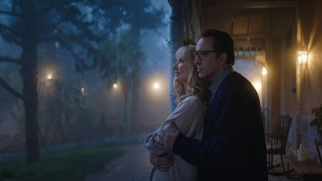 Joely Richardson as Theresa and Nicolas Cage as Nathan in Color Out of Space