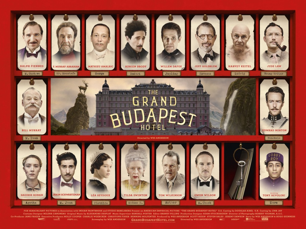 The truly astounding cast of The Grand Budapest Hotel