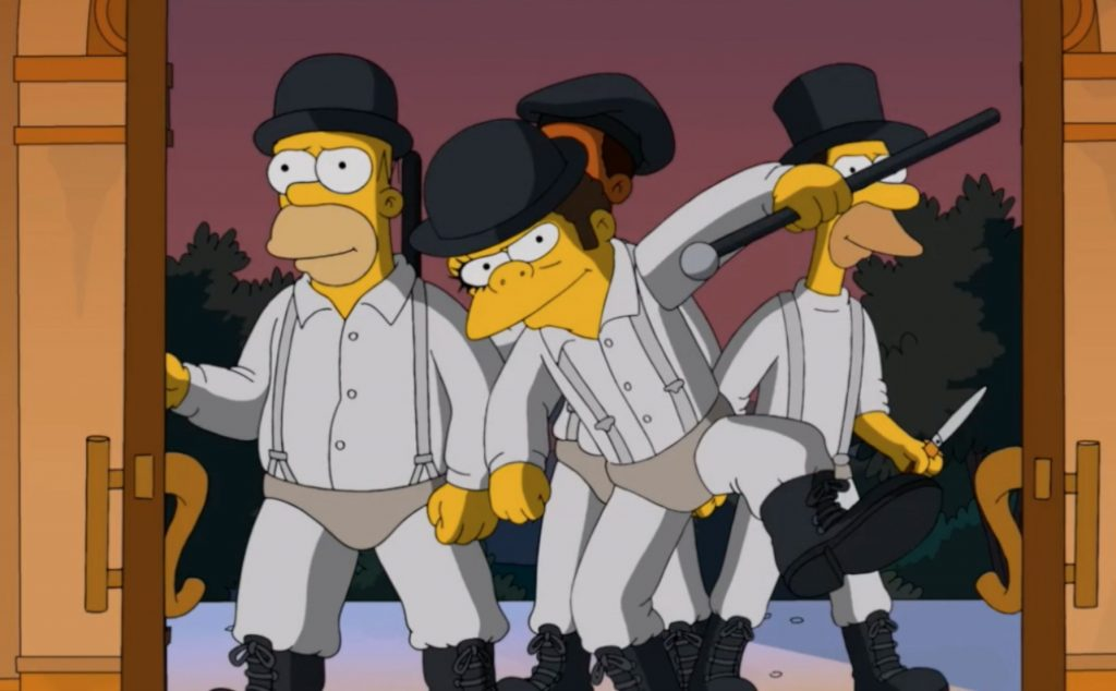 The Simpsons - A Clockwork Orange reference