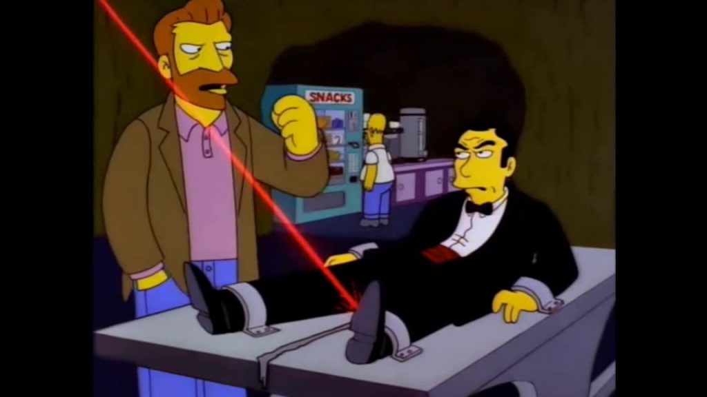 The Simpsons referencing James Bond