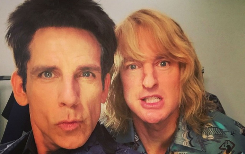 Stiller and Wilson behind the scenes on Zoolander 2 (Paramount, 2016)