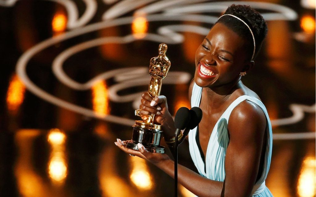 Lupita Nyong'o at the 86th Academy Awards / CREDIT:  Lucy Nicholson/Reuters