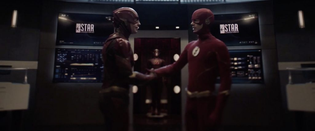 "Ezra Miller's Flash meets Grant Gustin's Flash in ""Crisis on Infinite Earths"""