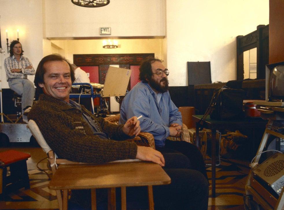 Nicholson and Kubrick on set