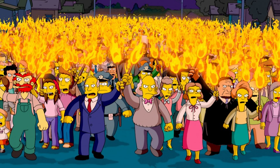 Simpsons mob against unpopular opinions [Source GQ]