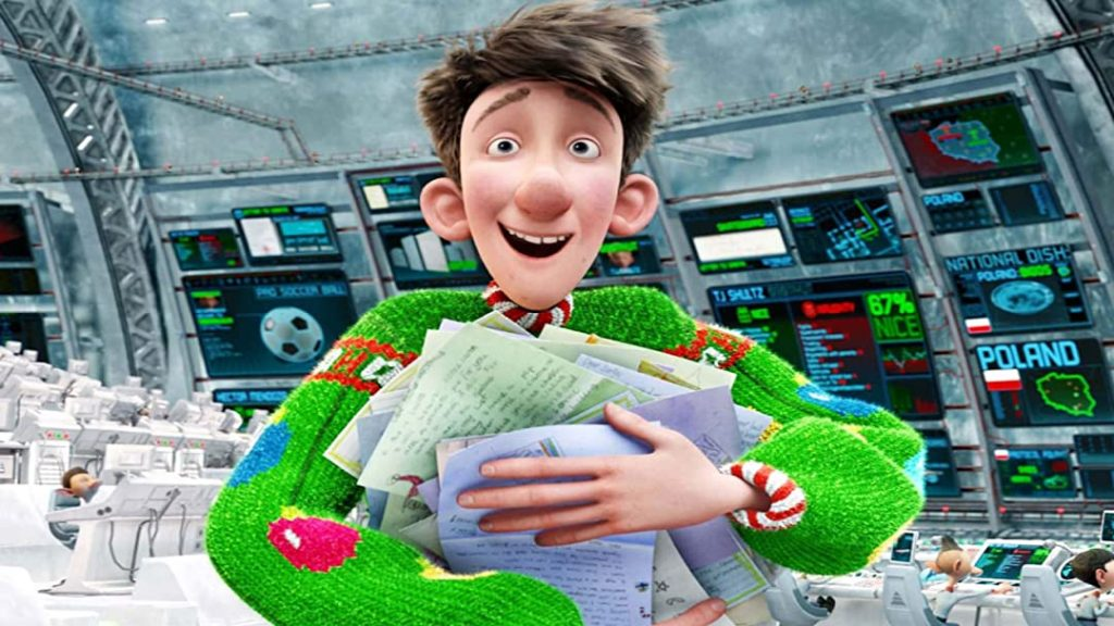 James McAvoy as the endearing Arthur Christmas
