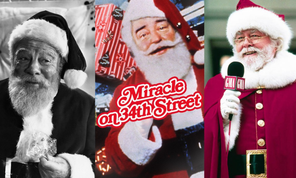 Miracle on 34th Street 3 films [Source Pintrest, Iconic Greats and IMDb]