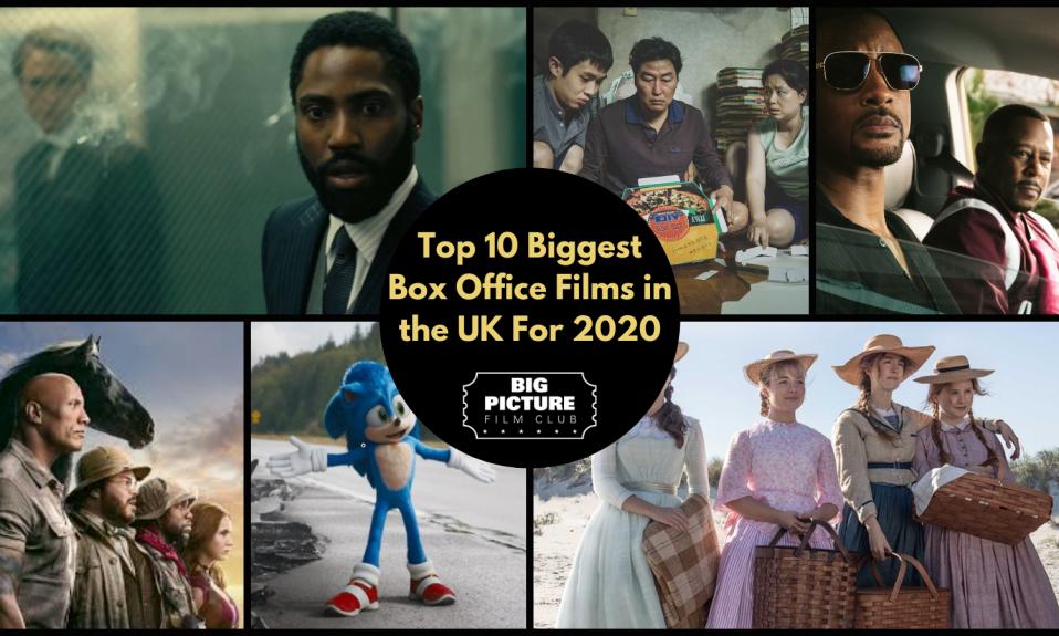 UK Box Office 2020 Film Collage