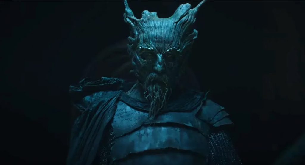 The Green Knight looks very unnerving [Source Bloody Disgusting]