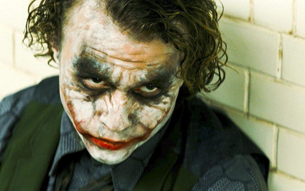 Ledger as The Joker // Credit: Warner Bros.