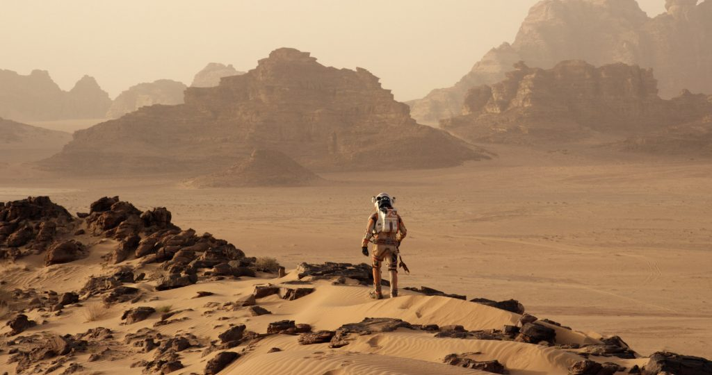 The Mars landscape in The Martian [Source: Time Magazine]