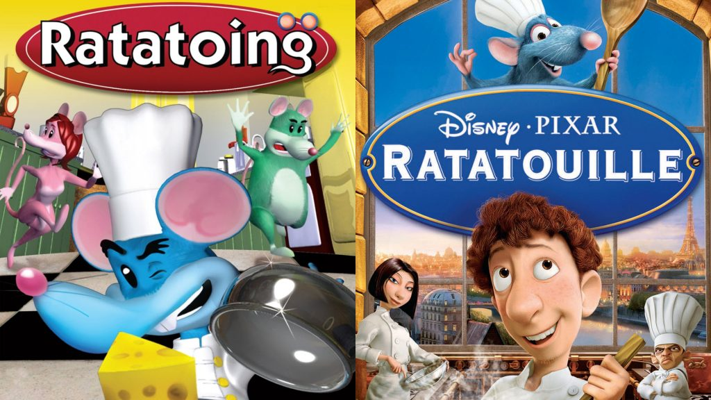 Ratatoing copies Ratatouille [Credits: Video Brinquedo (Left) & Buena Vista Pictures Distribution (Right)]