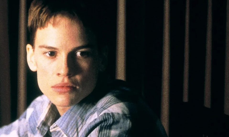 Hillary Swank as transgender lead Brandon Teena in Boys Don't Cry [Source: The Guardian]