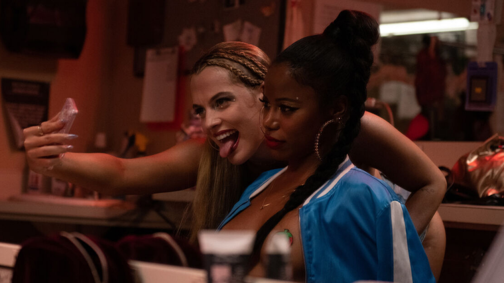 Riley Keough as Stefani and Taylour Paige as Zola in Zola
