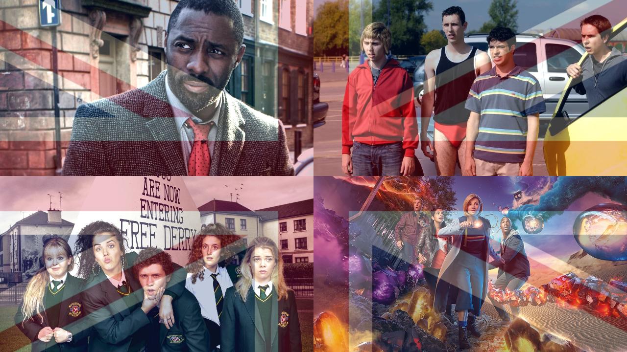 Collage of British TV shows